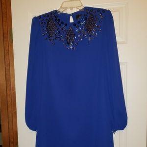 Vtg 70'sJeri New York Evening Dress Embellishment